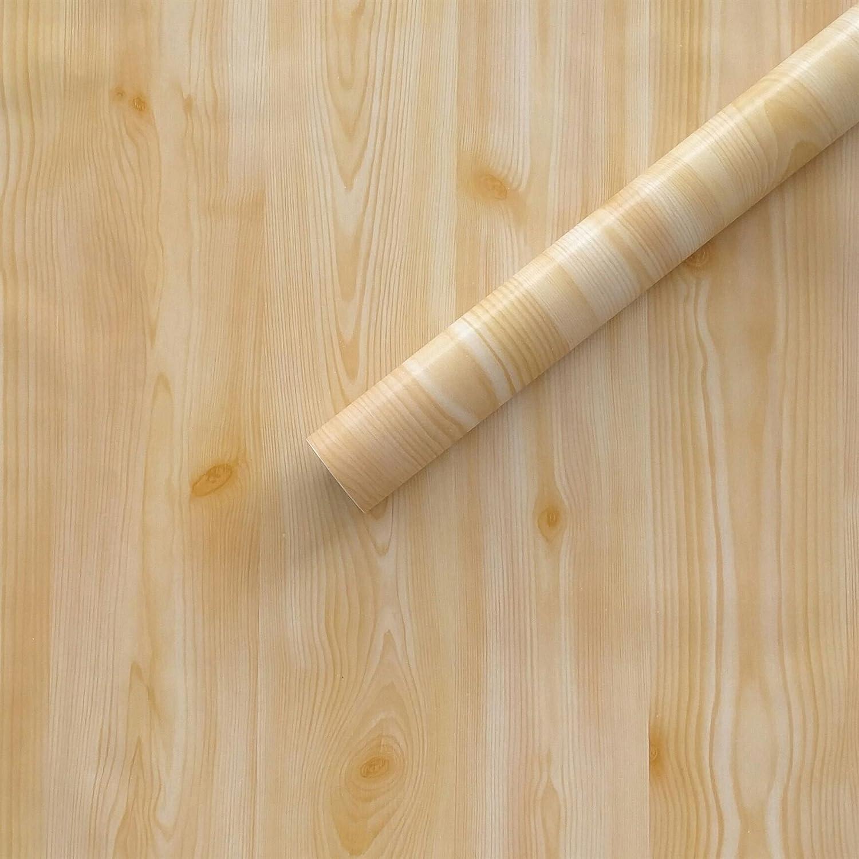 ZCHENG Papel tapiz Papel tapiz autoadhesiva 10M 45cm de ancho de rollo impermeable sólida coreano romántico dormitorio acogedor hostal, Amarillo, grande