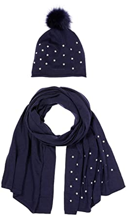 Tommy Hilfiger Women s Stars Scarf   Beanie Holiday GIFTPACK, Hat   Glove  Set, Blue 708d1633662
