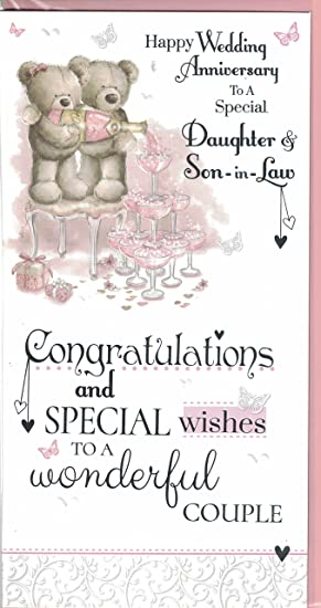 Daughter And Son In Law Anniversary Card Wishes