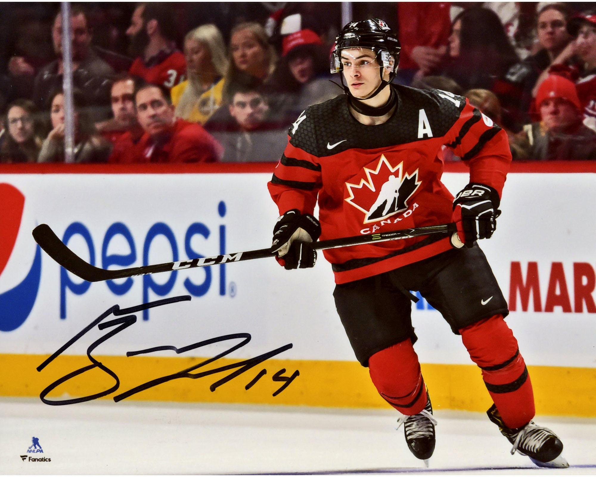 "Mathew Barzal Team Canada Autographed 8"" x 10"" Photograph Fanatics Authentic Certified Autographed NHL Photos"