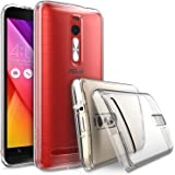 "ASUS ZenFone 2 (5.5 Inch) Case - Ringke FUSION [Drop Protection] ENHANCED AND REVISED [FREE HD Film][CLEAR] Premium Clear Back Shock Absorption Bumper Hard Case for ASUS ZenFone 2 [ZE550ML/ZE551ML 5.5"" - Not for ZE500CL]"
