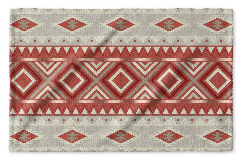 - NAVAJO Collection Red//Grey Size: 15.5x24.5 - KAVKA Designs Navajo Black Hand Towel, MGTAVC2015SPHT