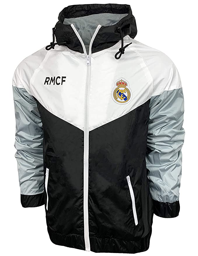 Amazon.com: Real Madrid FC Windbreaker Jacket, Official Football Mens Shower Jacket: Clothing