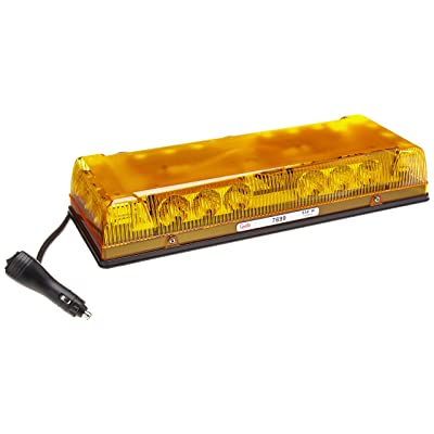 "Grote 76993 Yellow 17"" Low-Profile LED Mini Light Bar (Magnet Mount with Cigarette Lighter Adapter): Automotive"