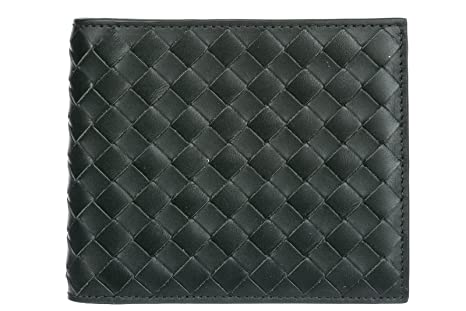 Bottega Veneta men s genuine leather wallet credit card bifold grey ... e0c704cdaa928