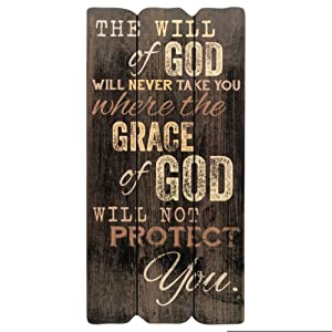 P. Graham Dunn The Will of God Grace of God Small Fence Post Wood Look Wall Art Plaque