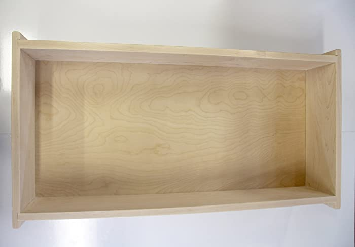 Wooden Under Bed Storage Box, Unfinished. Maple Sides, Birch Plywood Bottom  With 4
