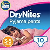 Huggies DryNites Pyjama Pants for Girls, Age 3-5 - 10 Pants Total