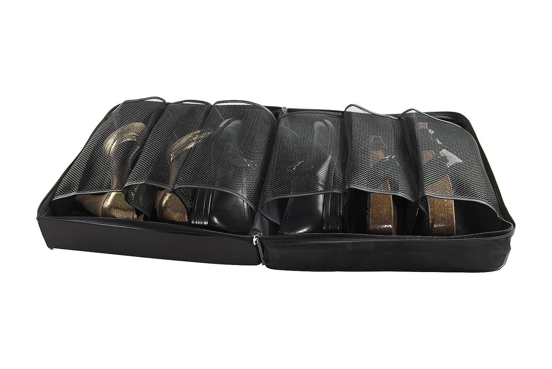 Compattatore RAN7208, scarpiera, 3 coppia, nero, 36 x 36 x 17 cm