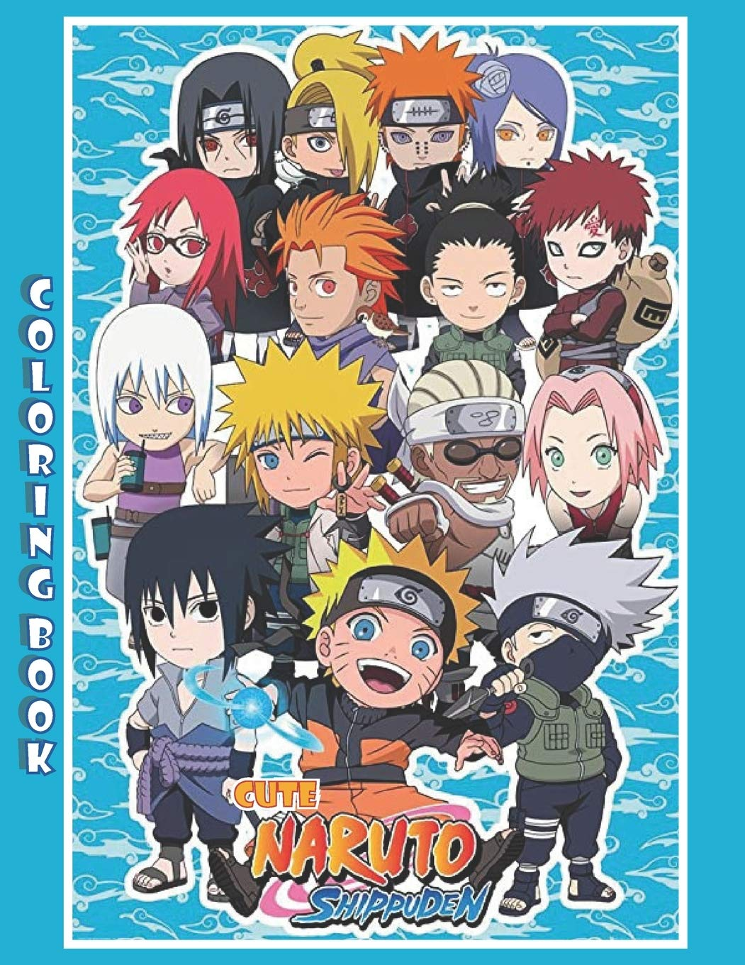 """cute naruto shippuden: an amazing Edition gift Coloring Book of lovable Cute  Chibi Ninja naruto anime characters with 60 pages : size 8.5""""x 11"""": lion,  charles: 9798579507549: Amazon.com: Books"""