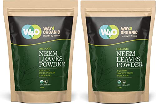 Neem Powder – USDA Certified Organic. 100 Pure and Natural – Herbs India Pack of 2 X 1 Lb
