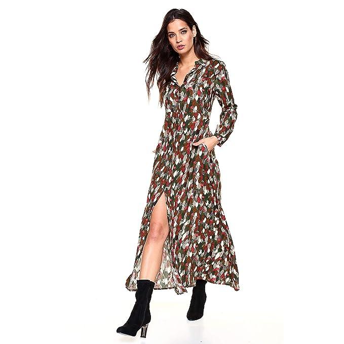 fc097c2f29 VENCA Vestido Cuello Camisero y Botonadura Frontal Mujer by Vencastyle -  031231