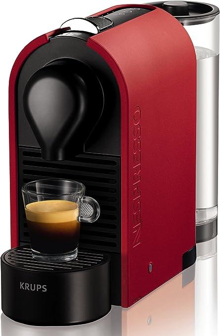Nespresso Intenso Krups U XN2505 Cafetera de cápsulas de 19 bares con 3 programas de café, depósito modular y función de autoapagado, color rojo: Amazon.es: Hogar