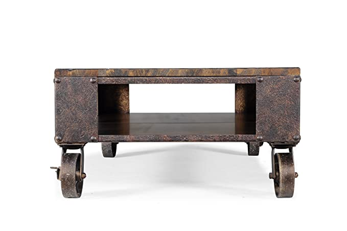 104cc8e4e402 Magnussen T1755 Pinebrook Distressed Natural Pine Wood Rectangular Cocktail  Table  Amazon.ca  Home   Kitchen