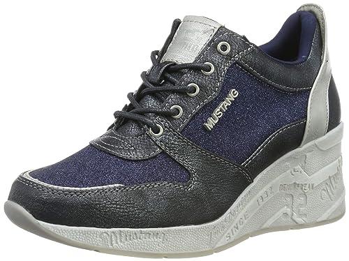 MUSTANG Damen 1303 401 820 Slip On Sneaker, Blau (Navy 820), 39 EU