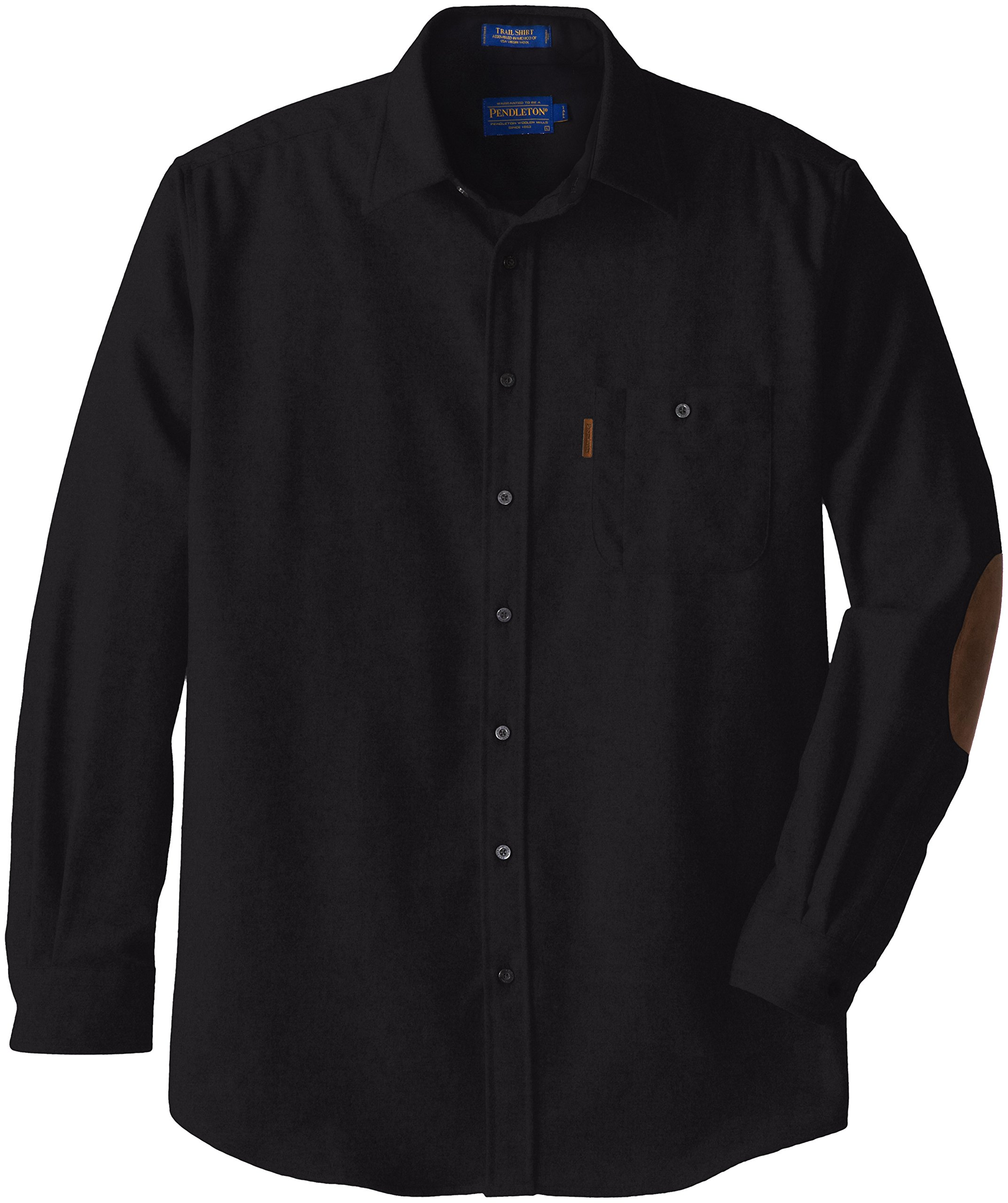 Pendleton Men's Big & Tall Long Sleeve Trail Shirt, Black, XX-Large/Tall