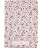 HM&LN Planner A6 Journal Notebook Daily Weekly Monthly Yearly Goals Organizer Gifts (Pink Cherry Blossom)
