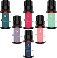 Bel Air Naturals Aromatherapy Top 6 Essential Oils Set - 100% Pure Therapeutic Grade - Peppermint/Tea Tree/Rosemary/Lavender/Eucalyptus/Frankincense - Best For Oil Diffuser, Massage