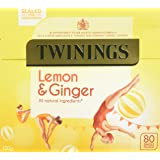 Twinings Revitalising Lemon & Ginger 80 Tea Bags (Pack of 4, total 320 Tea Bags)