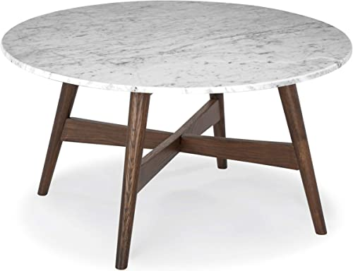 Poly and Bark Oviedo Marble 31″ Round Coffee Table
