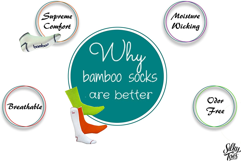 Triple Roll Dress Crew Socks Silky Toes 3 Pk Womens Turn Cuff Bamboo Casual Socks 9-11, Navy -3 Pairs