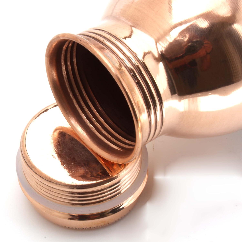 Copper Splash-Copper Water Bottle Large-Leak Proof Ayurvedic Pure Copper Vessel for drinking water-Enjoy the Ayurvedic Health Benefits CopperSplash LF10