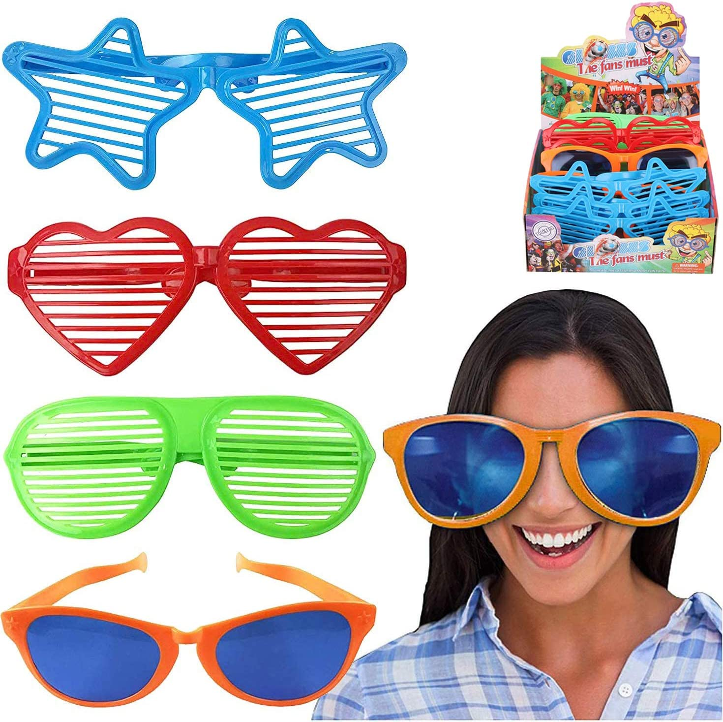 JUMBO STAR PARTY GLASSES BIRTHDAY PARTY SUPPLIES