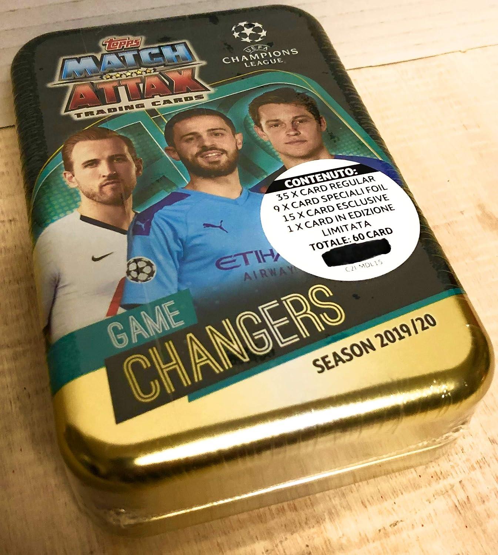 Tin Box UEFA Champion League Season 2019//2020 Match ATTAX Trading Cards Game Changers