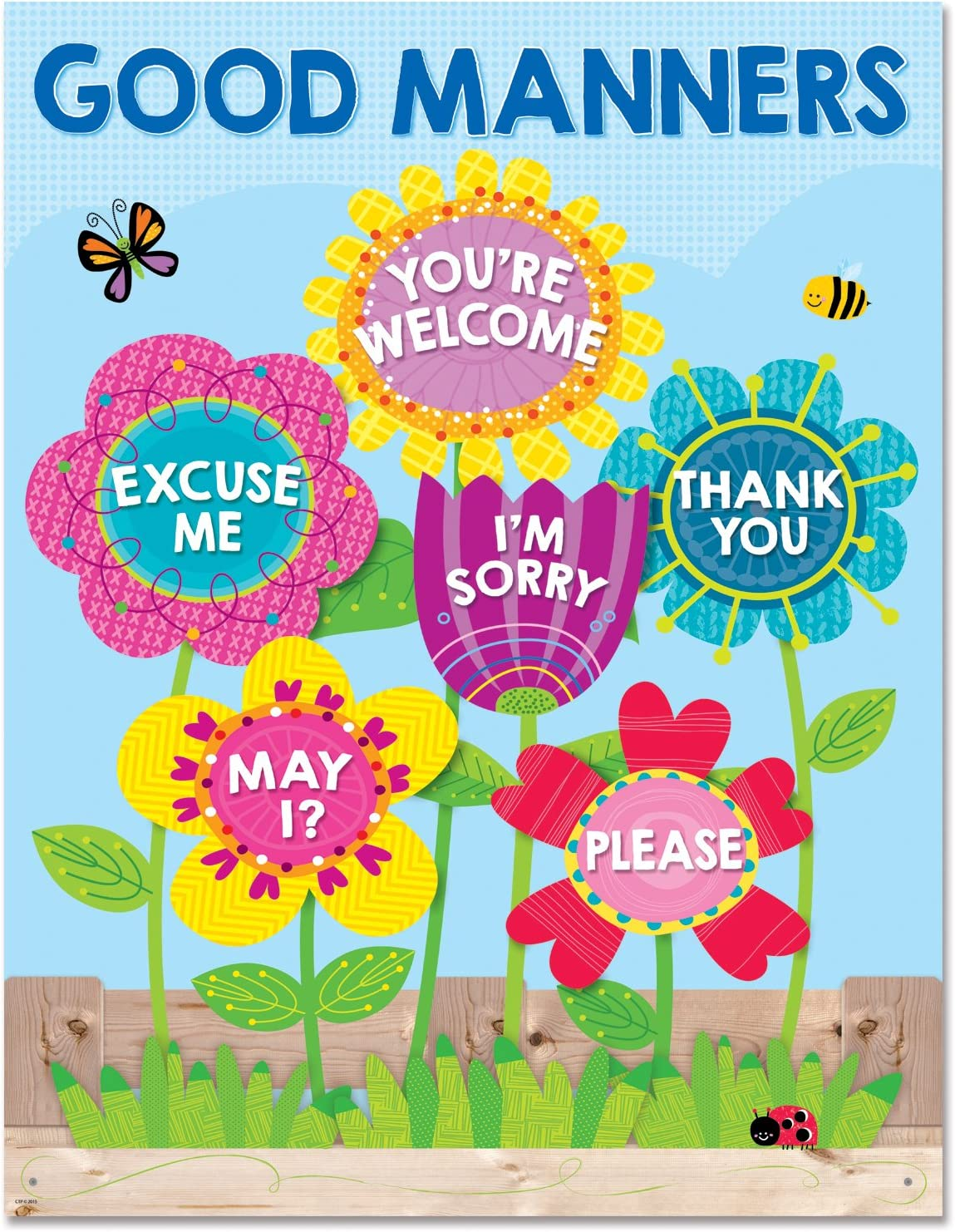 Creative Teaching Press Chart Garden of Good Manners Chart (5556)