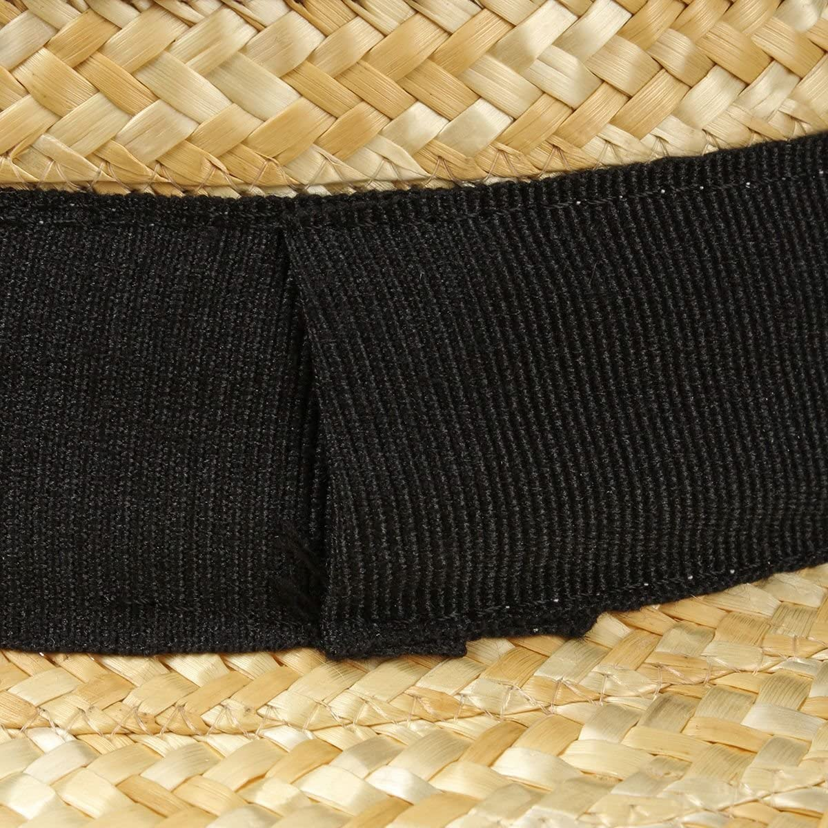 Lipodo Chapeau de Canotier en Paille Femme//Homme Made in Italy DEte Matelot Chapeaux avec Ruban Gros Grain Printemps-ete