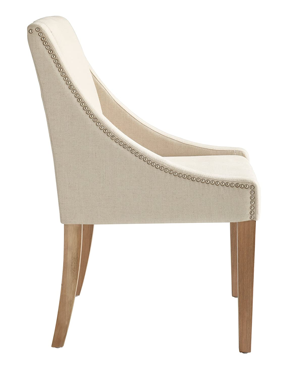 Sunpan Modern 72286-RL Lucille Dining Chair with Linen Fabric