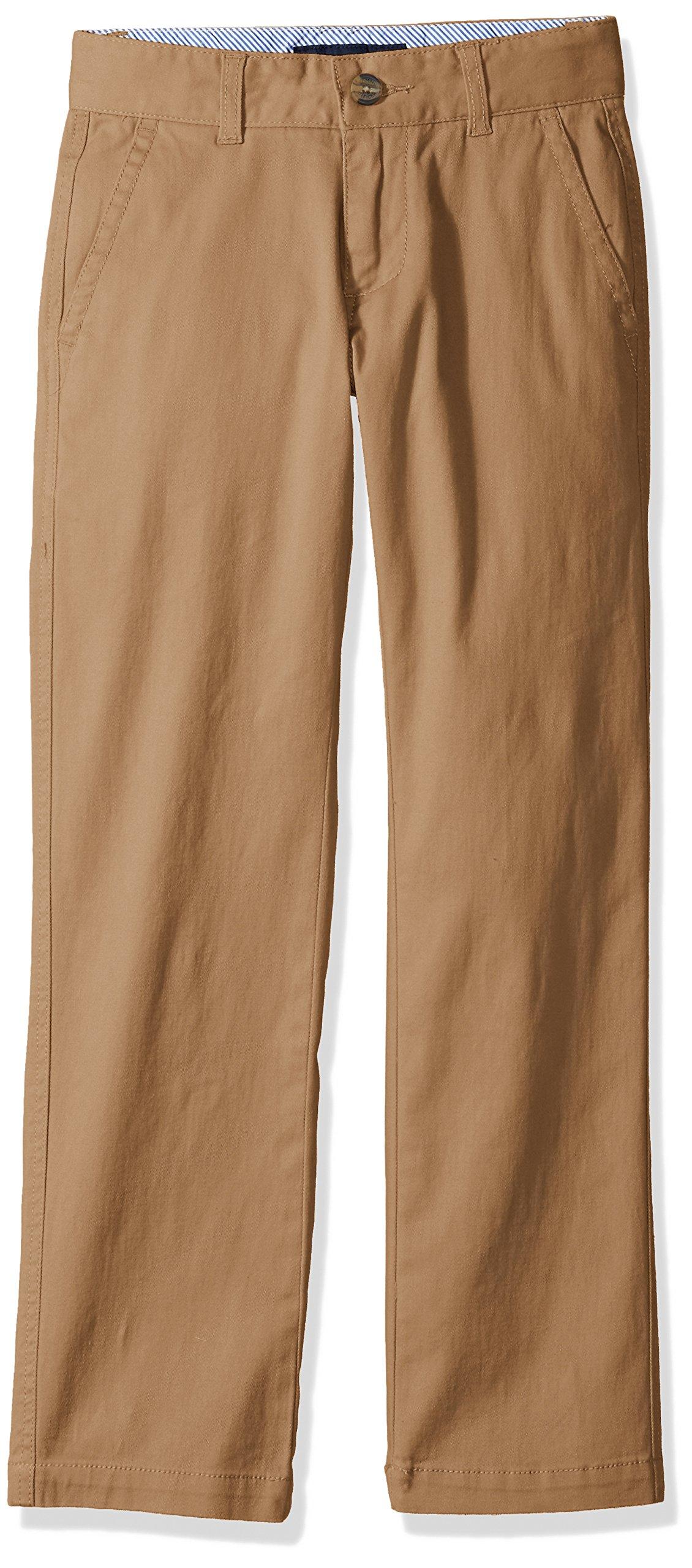 Tommy Hilfiger Big Boys Academy Pant, Golden Khaki, 10