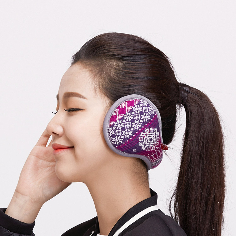 Outdoor Exposure and Thicken Earmuffs Ear Cover Unisex Foldable Ear Warmers Polar Fleece Winter EarMuffs Color Purple by YADEER (Image #4)