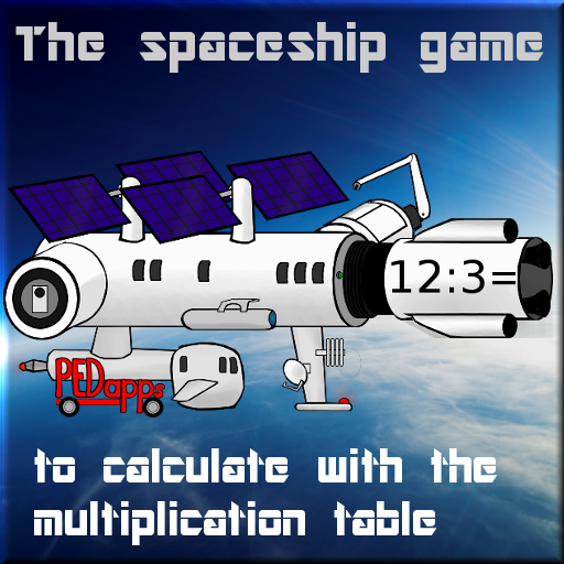 The spaceship game to calculate with the multiplication table