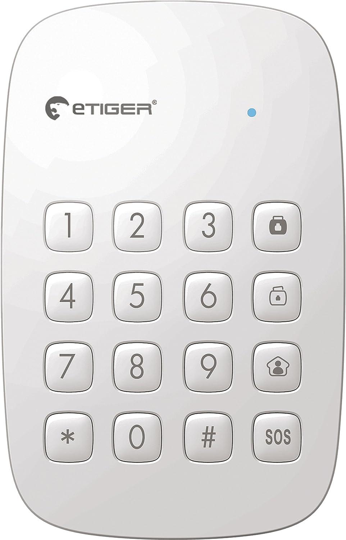eTiger ES-K1A Teclado Alarma, Blanco
