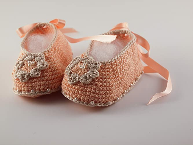 f0bfca474fcb2 Amazon.com: Baby Girl Ballerina NewBorn Shoes - Crochet Baby Shoes ...