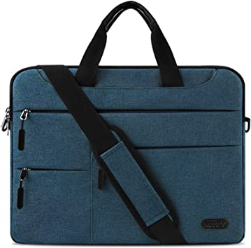 NUBILY Maletin Ordenador Portatil 13,3-14 Pulgadas Hombre Mujer Bolso Bandolera Impermeable para portátiles Protectora Compatible Trabajo Bolsa Azul