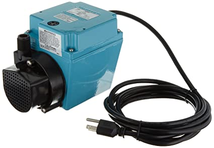 Little Giant 3E-34N Dual Purpose In-Line or Small Submersible Pump,  Oil-Filled Pump, 1/15 HP, 115 Volt
