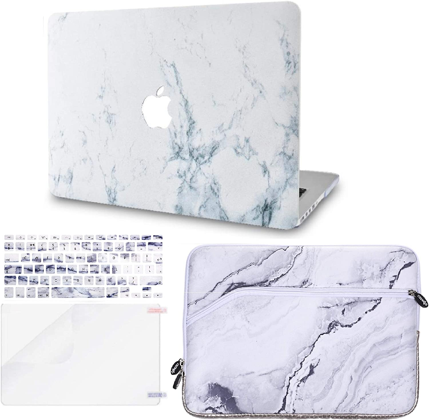 Black Leather Screen Protector w//UK Keyboard Cover Leather Folio Italian Pebble Leather 2020//2019//2018//2017//2016 KECC MacBook Pro 13 Case Sleeve A2159//A1989//A1706//A1708 Touch Bar