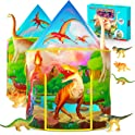 Wilwolfer Dinosaur Kids Play Tent with Dinosaur Toys