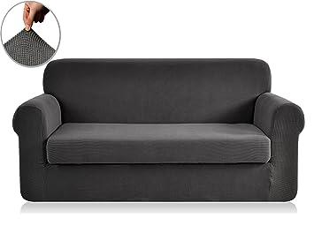 Amazoncom Chunyi 2Piece Jacquard Polyester Spandex Sofa