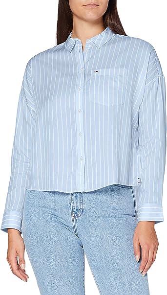 Tommy Hilfiger Tjw Bold Stripe Shirt Camisa para Mujer: Amazon.es: Ropa y accesorios