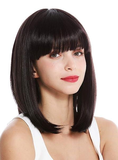 WIG ME UP ® , VK,1,3HDEEPVIOL quality women\u0027s wig short shoulder length  long bob fringe sleek dark brown violet