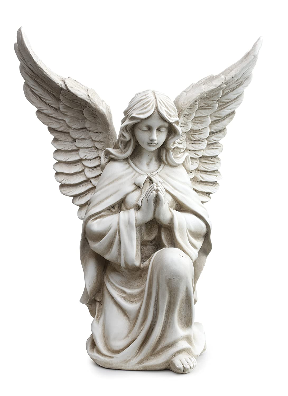 "Napco 11299 Praying Angel in Kneeling Pose Garden Statue, 13.25"""