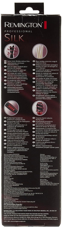 Remington B96REU Silk - Cepillo redondo con cerdas de nailon iónico y de jabalí: Amazon.es: Belleza