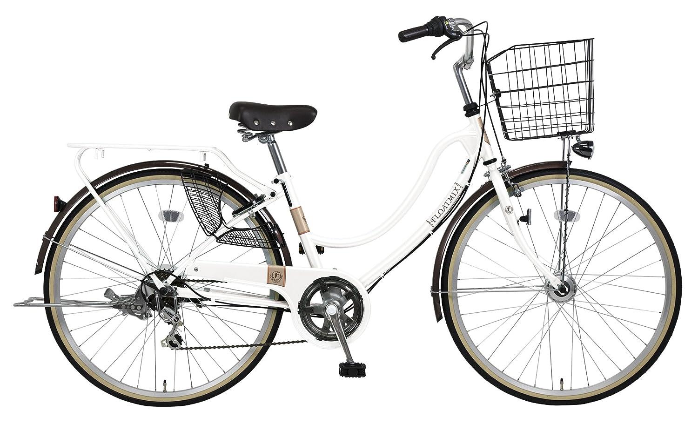 完全組立 27インチ自転車 LEDオートライト シマノ製外装6段ギア B078HGP73X ホワイト ホワイト