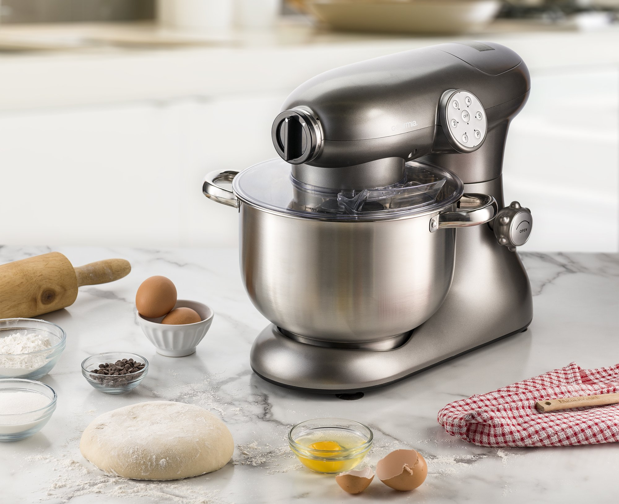 Gourmia EP700 7-Quart 6 Speed Stand Mixer, Planetery Action with Stainless Steel Bowl by Gourmia (Image #5)