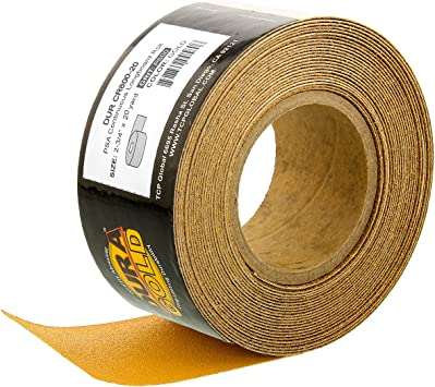ABN Adhesive Sticky Back 320-Grit Sandpaper Roll 2-3//4in x 20 Yards Aluminum Oxide Golden Yellow Longboard Dura PSA