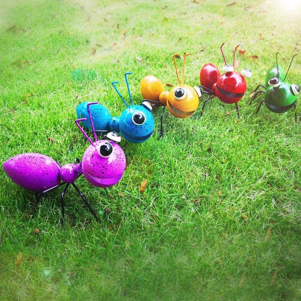 3D Metal Ant Wall Accents, Oversized Ants Insec Christmas Wall Decor Sculpture Hang Hanging Art Outdoor Garden for Home, Living Room, Patio, Office