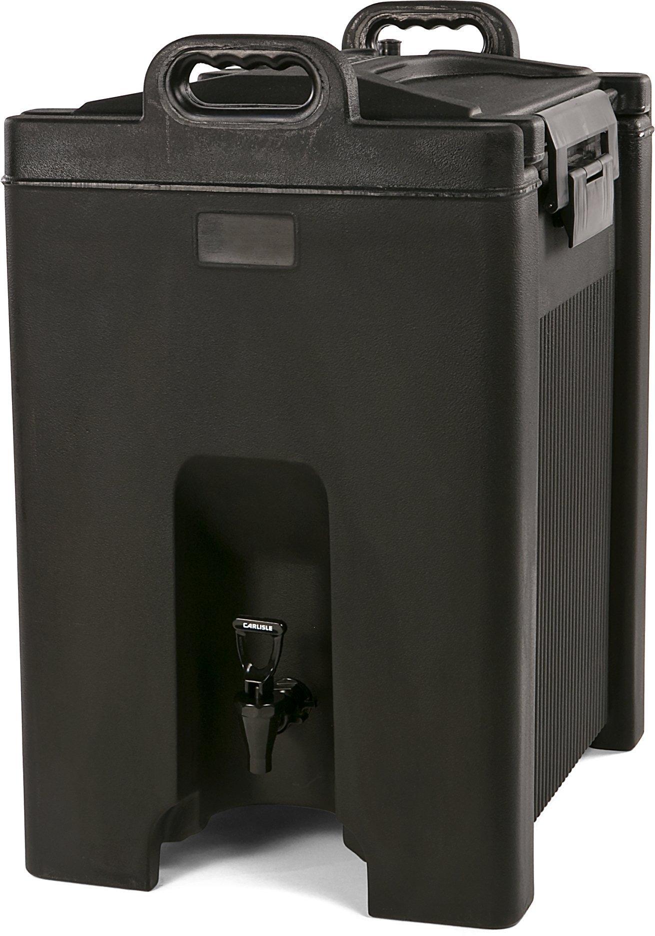 Carlisle XT1000003 Cateraide Insulated Beverage Server Dispenser, 10 Gallon, Black